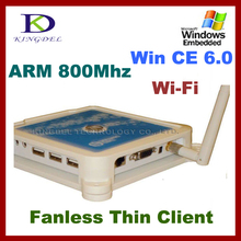 Белый Thin Client PC Station PC Share Терминал 32 Бит 800 МГц PC терминал N380 с WI-FI USB 2.0 VGA нуля тонкий клиент FCC и CE