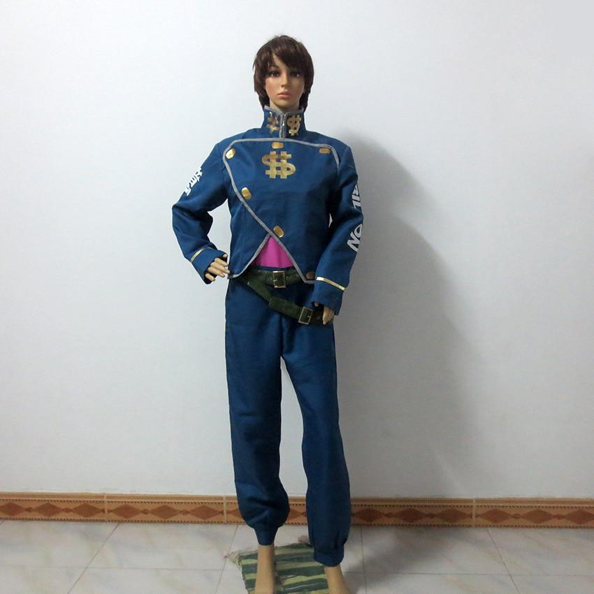 JoJo's Bizarre Adventure Nijimura Okuyasu Cosplay Costume Halloween Uniform Outfit Customize Any Size