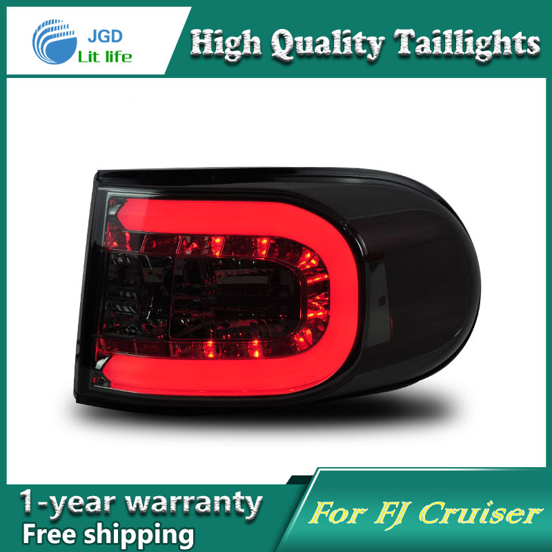 Car Styling Tail Lamp for Toyota FJ Cruiser 2007-2014 taillights Tail Lights LED Rear Lamp LED DRL+Brake+Park+Signal Stop Lamp car styling tail lamp for toyota corolla led tail light 2014 2016 new altis led rear lamp led drl brake park signal stop lamp