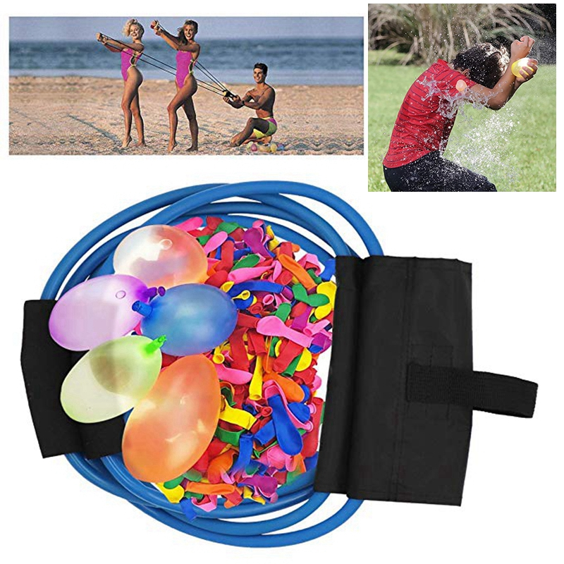 222PCS Magic Water Balloons Launcher Waterbombs Swimming Pool Beach Kids Toys Balloon 3 Person Launchers War Game