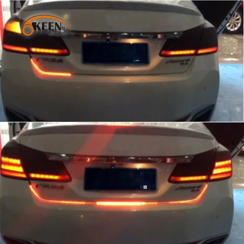 ФОТО KEEN drl LED Daytime Running light Water Running LEDs Strip Rear light car-styling  automobiles for mercedes peugeot 307 so on