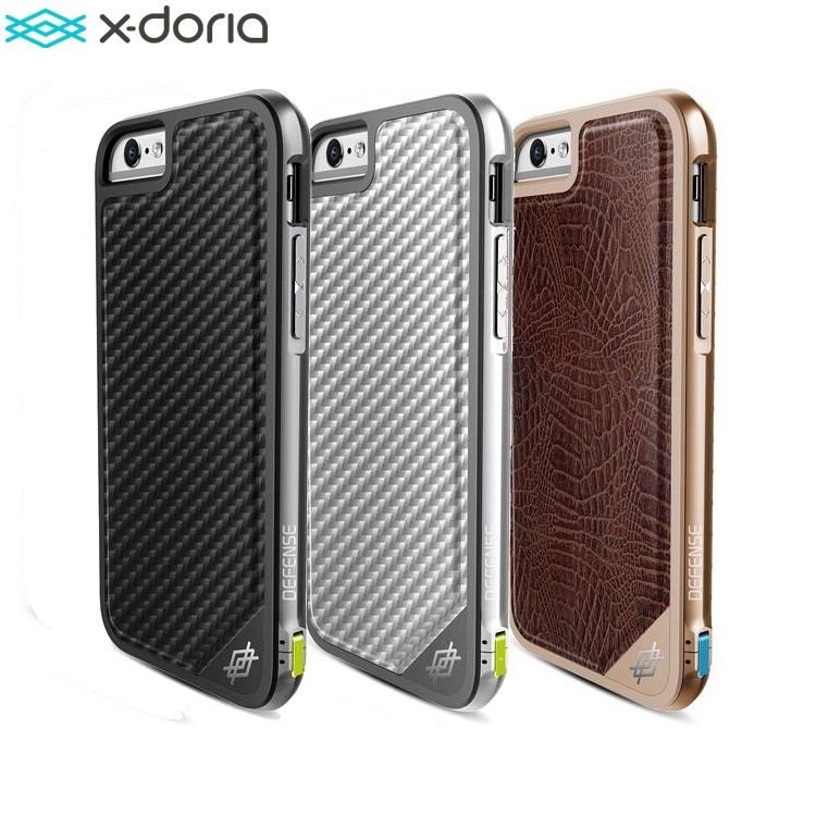 newest b0295 b77ff X-Doria Defense Lux Phone Case For iPhone 6 6S Case Military Grade Drop  Tested TPU Aluminum Premium Protective Cover Coque
