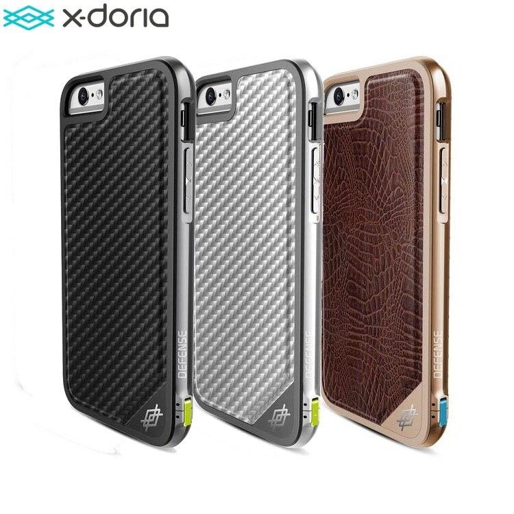 newest baac7 acfa0 X-Doria Defense Lux Phone Case For iPhone 6 6S Case Military Grade Drop  Tested TPU Aluminum Premium Protective Cover Coque