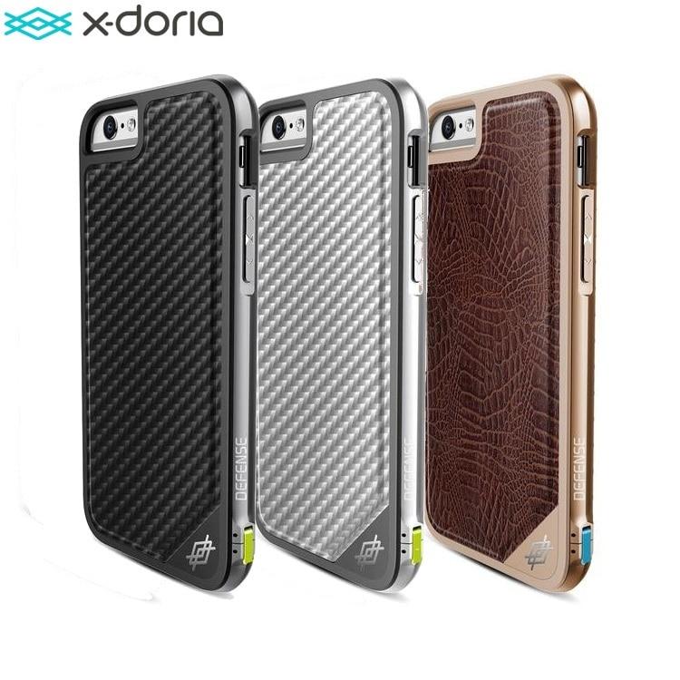 bilder für X-Doria Verteidigung Lux Abdeckung für Coque iPhone 6 S/iPhone 6 Fall, Military Grade Tropfen Geprüft, TPU & Aluminium Premium Schutzfall