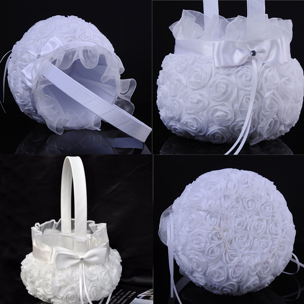 Hot Selling Wedding Ceremony Party Love Case Satin Bowknot Rose
