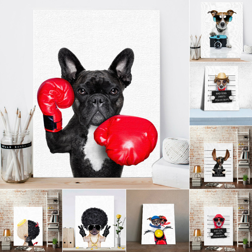 Home & Garden Inventive Nordic Poster Anima Dog Monkey Print Wall Canvas Picture For Children Room Art Decor Canvas Art Free Shipping Diversified In Packaging