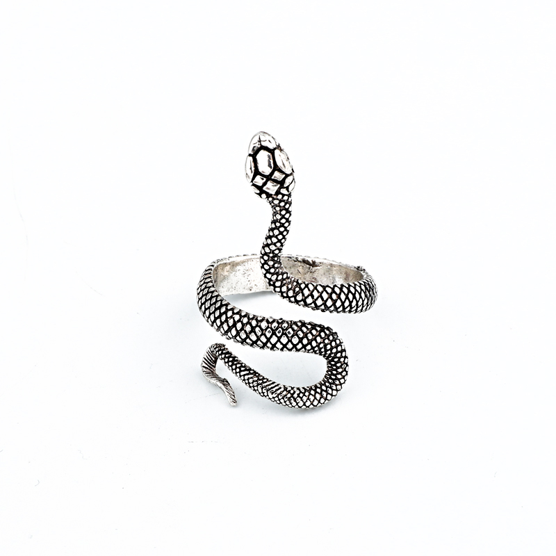 1 Pcs Stereoscopic New Retro Punk Exaggerated Snake Ring Fashion Personality Snake Opening Adjustable Ring Jewelry