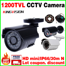 Big Sale 1/4cmos 1200TVL small Outdoor Waterproof IP66 CCTV Security Color Mini HD Camera 24led IR infrared Night Vision Bracke