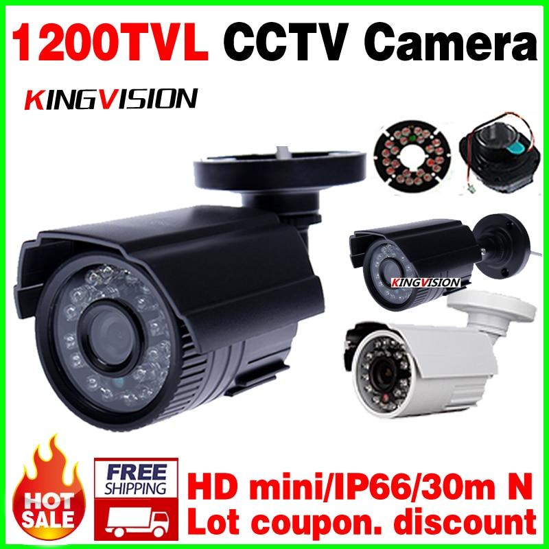 Big Sale 1/4cmos 1200TVL small Outdoor Waterproof IP66 CCTV Security Color Mini HD Camera 24led IR infrared Night Vision Bracke