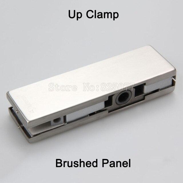 1pcs Frameless Glass Door Up Clamp Floor Spring Door Accessories Up