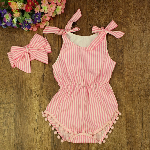 13f436e53 Striped Baby Romper Shorts Bubble Toddler Baby Jumpsuit ...