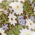 Трехмерная вышитая Водорастворимая кружевная ткань для шитья свадебного платья материал цветочный текстиль