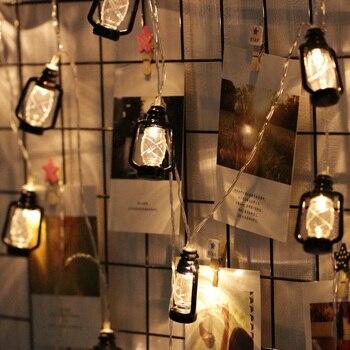 Ins Vintage Retro Lámpara De Aceite De Agua Led Al Aire Libre Guirnalda De Hadas De Cadena De Luz Para La Decoración De La Boda Del Ramadan De Navidad
