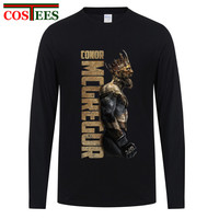 Casual T Shirt 3XL The King Of Conor Mcgregor MMA Featherweight Champion Men S Cotton Long
