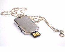 4gb 8gb 16gb 32gb high capacity giveaway waterproof metal necklace dog tag usb pen drive