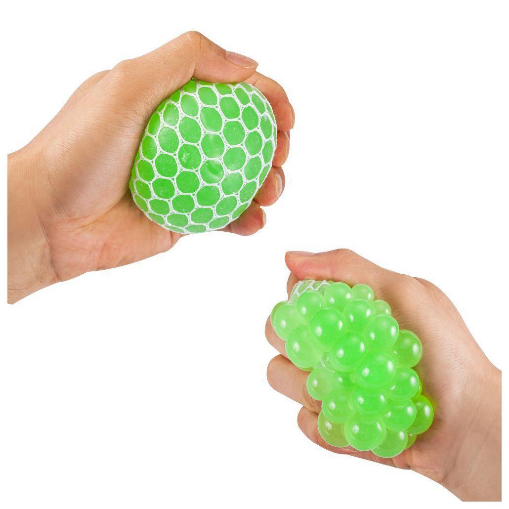 Gran venta de bolas blandas de malla Super grandes de 7,5 cm de goma de ventilación de uva Bola de estrés que exprime la bola de alivio del estrés-para niños y adultos. Stres