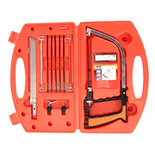 12 in 1 Magic Saw Multifunction Hand DIY Steel Saw Metal Wood Glass Saw Kit 9 Blades Woodworking Metalworking Model Tool(China)