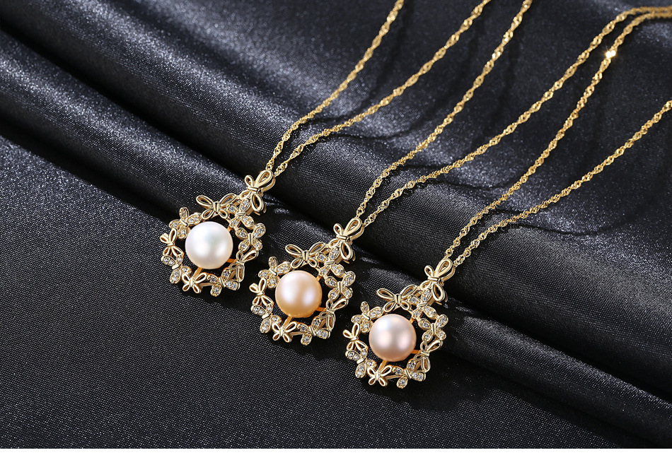 S925 sterling silver natural freshwater pearl necklace fashion exquisite gift YM006S925 sterling silver natural freshwater pearl necklace fashion exquisite gift YM006