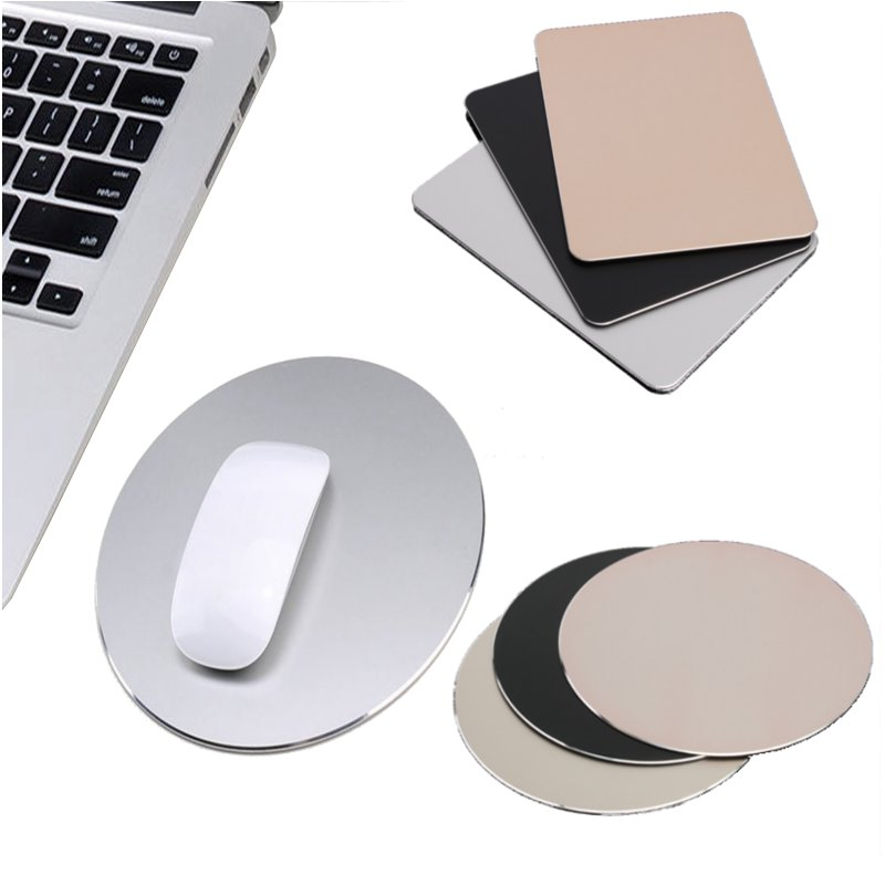 Square Round Gaming Mouse Pad Aluminum Anti Slip Rubber