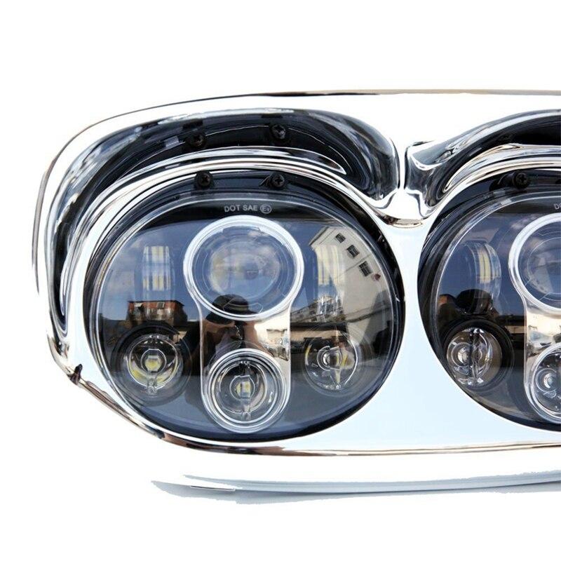Двойная светодиодная фара для 2004 ~ 2013 Harley Davidson дорожного Glide мотоцикл Проектор день производитель Замена