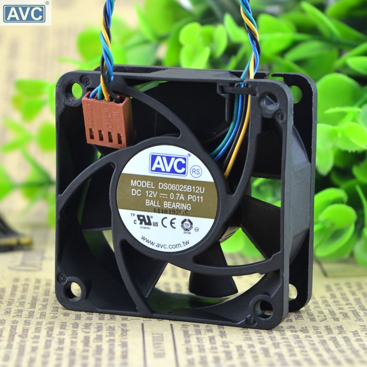 AVC DS06025B12U P011 60mm 6cm DC 12V 0.70A Pwm server inverter cooling fan hp q7583a magenta