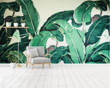 Beibehang Custom 27 photo Wallpaper Southeast Asia Tropical Rainforest Banana Leaf Background Wall Silk material 3d