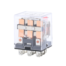 цена на HH63P LY3NJ JQX-13F Electromagnetic Relays 3PDT Power Relay Switch AC 220V AC 110V DC 24V DC 12V 10A Silver Contacts 11 Pin LED