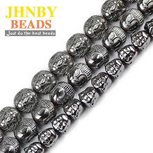 JHNBY Lion Buddha Maitreya head Black Hematite beads Natural Stone Loose beads Jewelry bracelet Making DIY Findings Accessories()