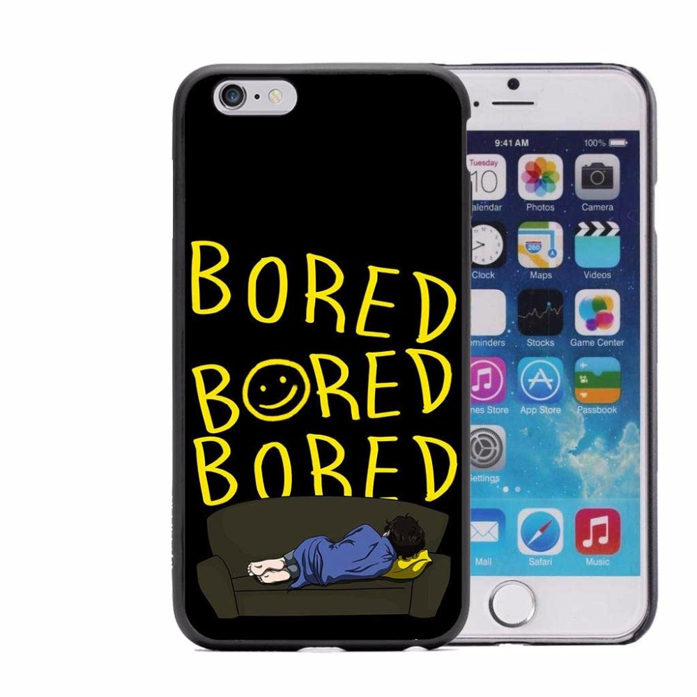 Im on a case Sherlock Hard PC Phone Case For iPhone 5 5S 6 6S Plus 7 7Plus 8 8Plus X 10 Black Cover Popular BORED Sherlocked