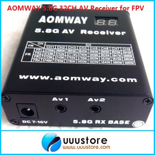 Aomway 5.8g 5.8ghz Wireless Video Receiver 32CH Rx w/DVR Recorder Telemetry Fatshark ImmersionRC Compatible hot new aomway rx006 dvr 5 8g 48ch diversity raceband a v receiver with built in video recorder