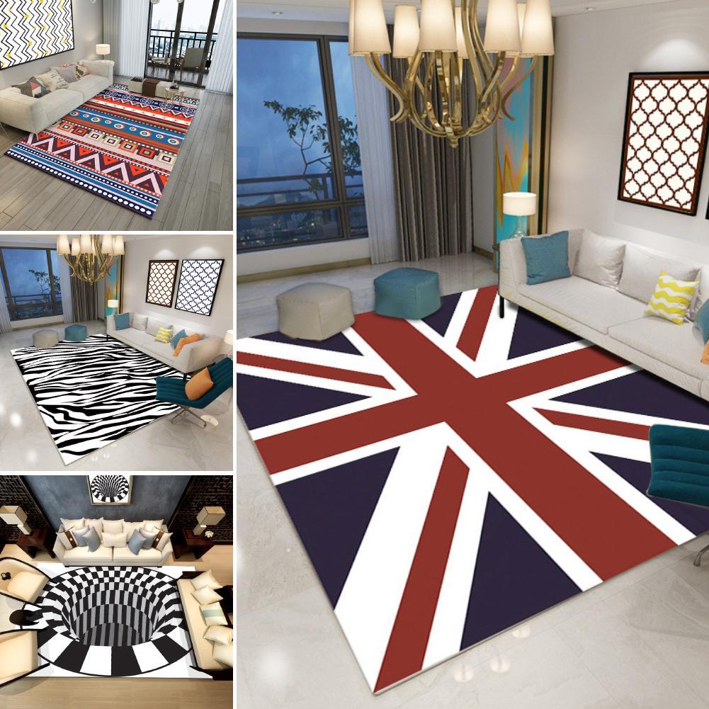 US $10.89 36% OFF|Non slip Area Rug 3D Zebra Stripe UK Flag Carpet Living  Room Bedroom Floor Mat-in Mat from Home & Garden on Aliexpress.com |  Alibaba ...