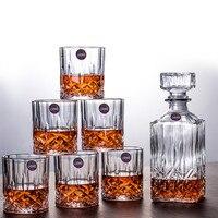 Фирменный набор стеклянная бутылка для вина чашка без свинца термостойкая прозрачная Хрустальная пивная виски бренди графин чашка Drinkware ба