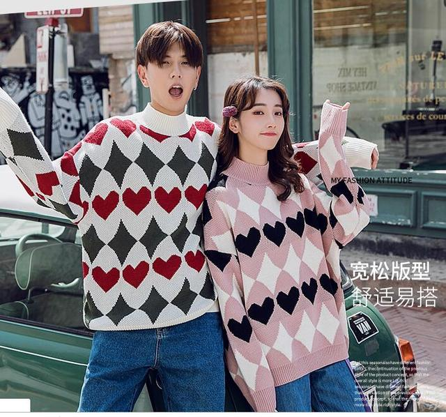 Valentine\u0027s New Year Sweaters Men Women Couple Clothes Lovers Christmas  Gift For Lovers Cute Korean Matching Couples Sweaters