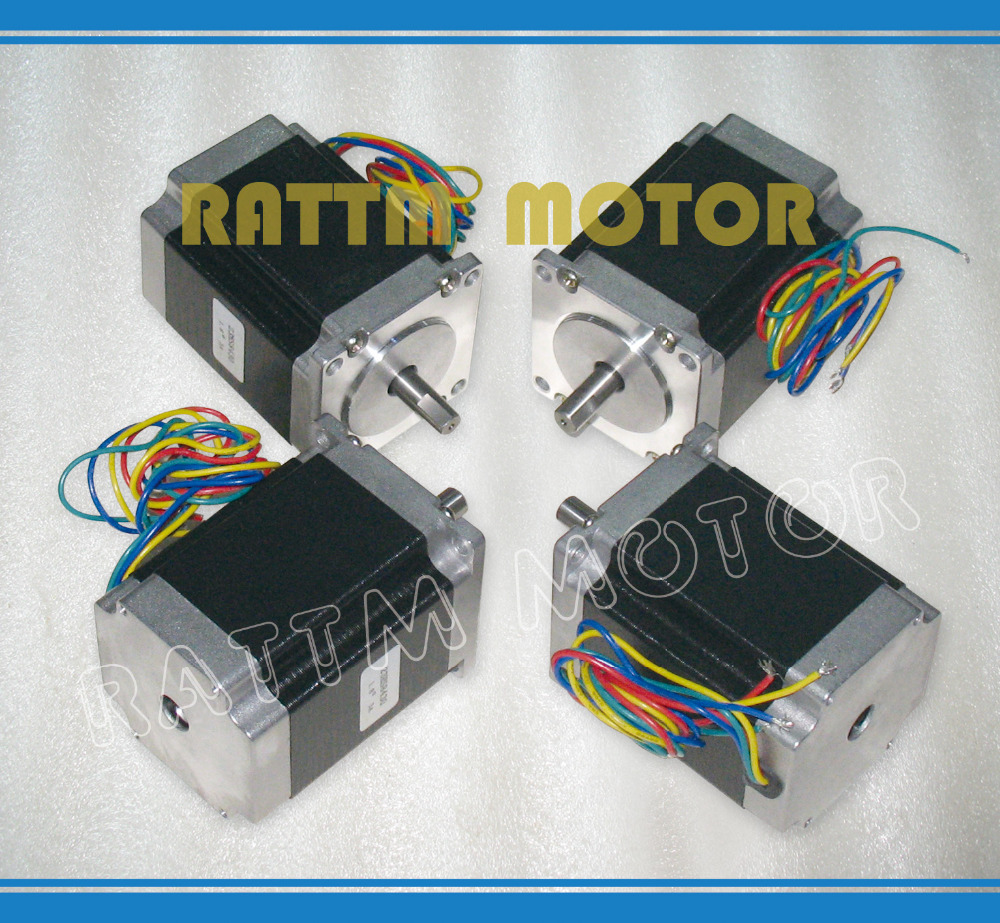 ФОТО 4PCS NEMA23 76mm/ 270 Oz-in/ 3A CNC stepper motor stepping motor for CNC Router/Engraving/Milling machine