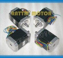 4 UNIDS NEMA23 76mm/270 oz-in/3A CNC motor paso a paso para CNC Router/grabado/fresadora