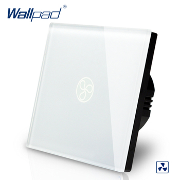 Smart Home Wallpad EU UK Standard Touch Switch AC 110~250V Fan Speed Regulator Touch Switch White Wall Fan Switch 110-250V uk standard pearl crystal glass panel timer delay switch ac 220 250v vl c301t 61 digital touch timer control home light switch