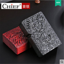 2018 New Rosewood Lighter Men Gadgets Dragon Kerosene Oil Petrol Lighter Gasoline Cigarette Accessories Retro Wood Lighter