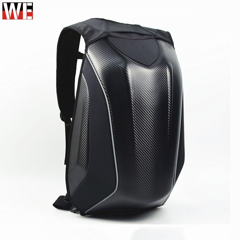 Motorcycle 30L Helmet Backpack Bag Carbon Fiber Reflective Motocross Riding Racing Bag Waterproof Motorbike Double Shoulder