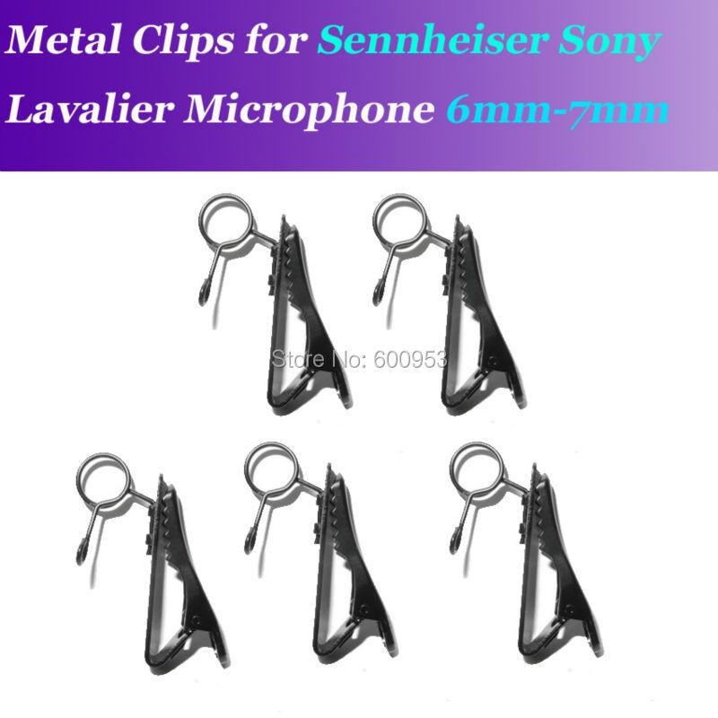 5pcs Spare Replaceable 6-7mm Metal clip Mic clips for Sennheiser ME2 Sony V1 D11 Lavalier Lapel Microphones