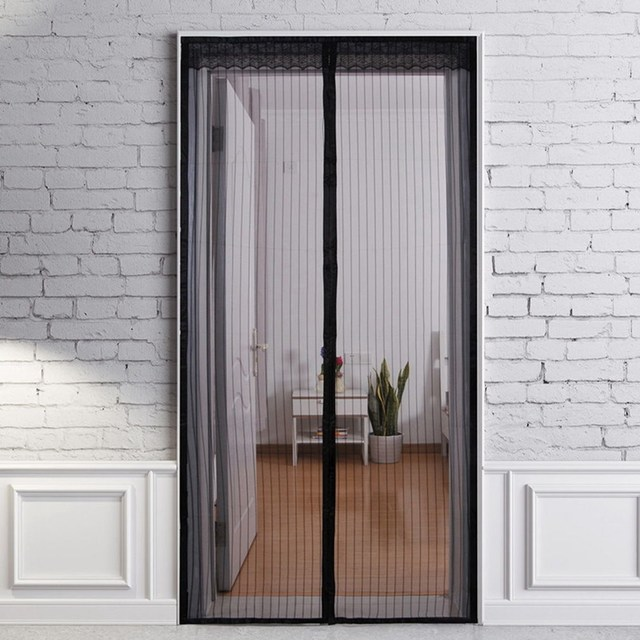 100 X 210CM Magnetic Mesh Tulle Screen Door Mosquito Net Curtain Protect  From Insects Closing Door