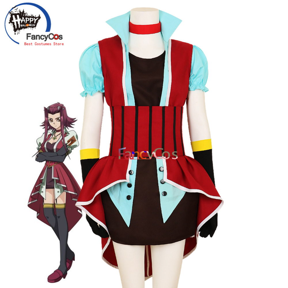 Halloween Yu-Gi-Oh! 5D's Akiza Izinski Aki Izayo Dress Cosplay Costume Adult High Quality Deluxe High Quality Custom Made