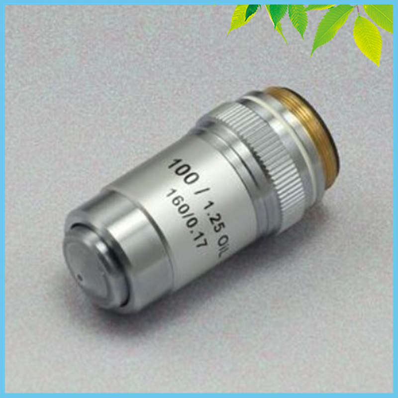 Conjugate Distance 195 Universal Metal 100X Achromatic Objective Lens for Biological Microscope