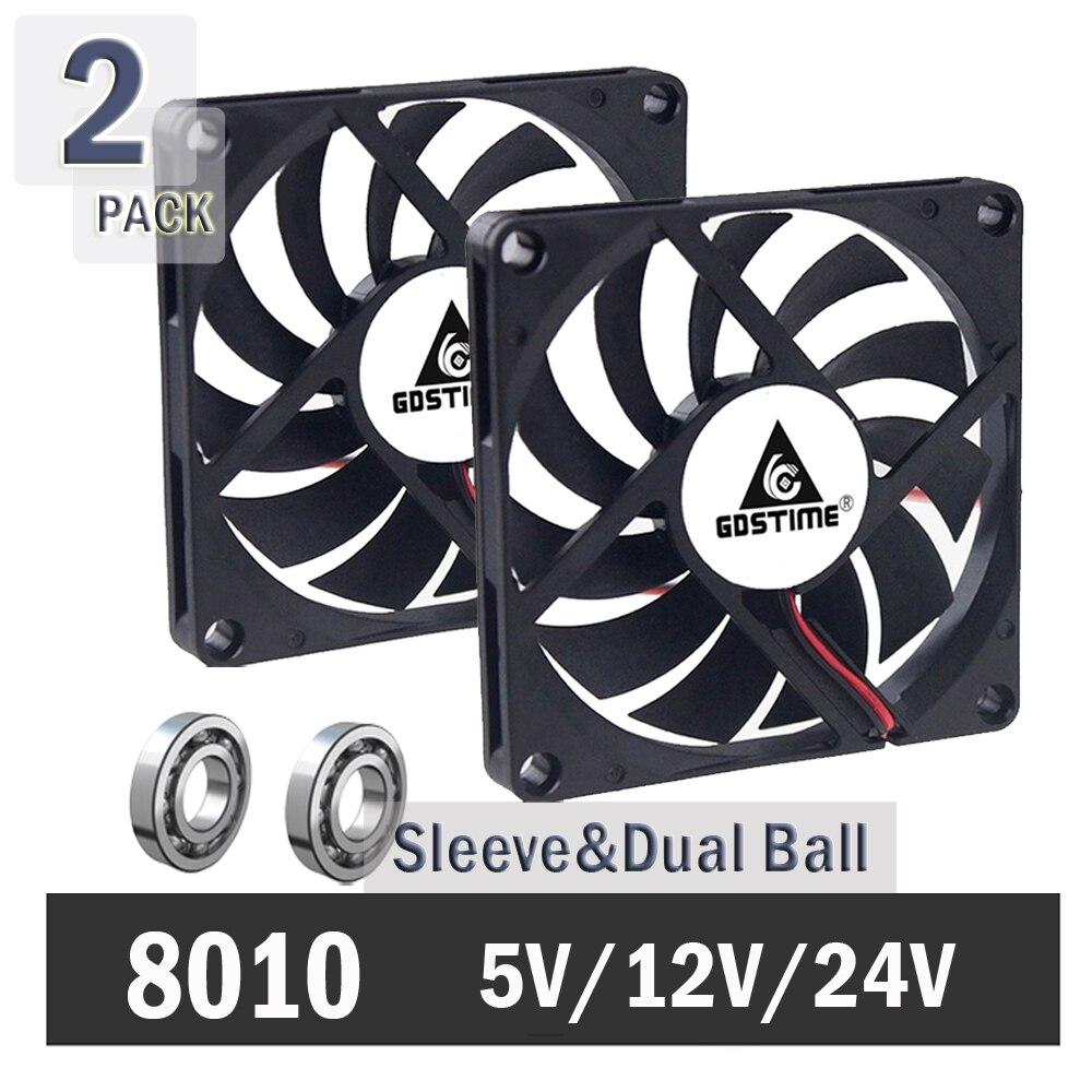 GDT 5V 80x80x10mm 8cm 8010 USB Connector DC Cooling Cooler Computer Fan Cooler computer cooling