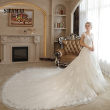 Noble Weiss SHAMAI Bride Dress Wedding Dresses Cap Sleeves