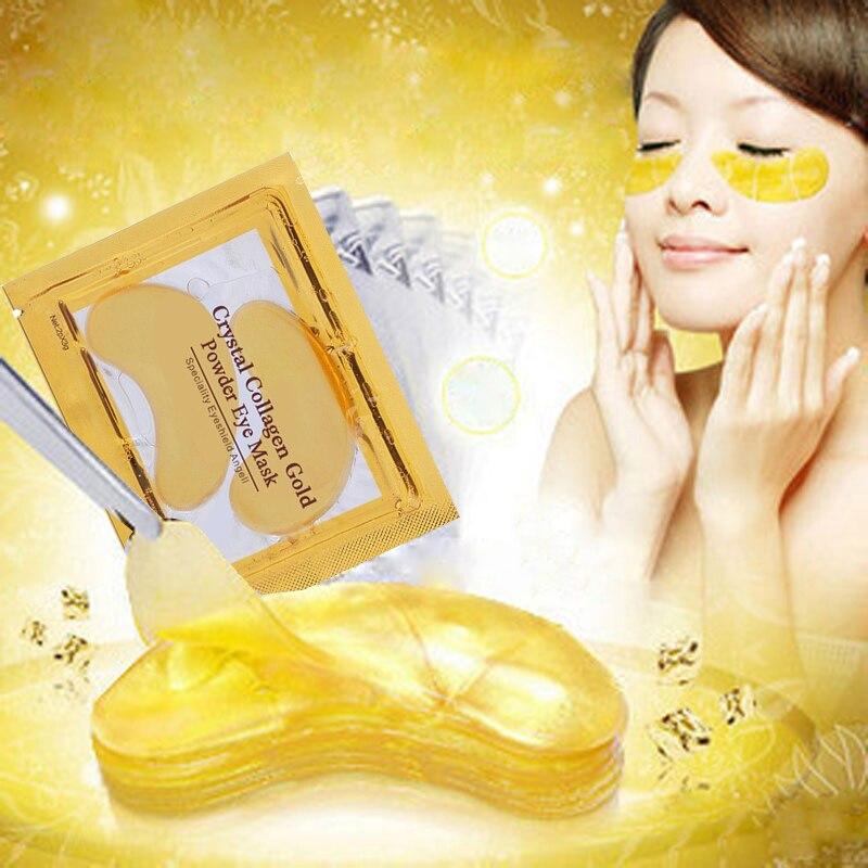 PUTIMI 5/8/10 Pair Colágeno Máscara de Olho Anti-Aging Face Care Máscara Remendos do Olho Sob Os Olhos remover Anti-Inchaço Círculo escuro Máscara de Ouro
