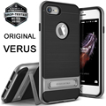 Verus originais para apple iphone 7 7 plus case à prova de choque Quadro armadura Duro Metal Escovado TPU Gel Híbrido Kickstand Capa casos