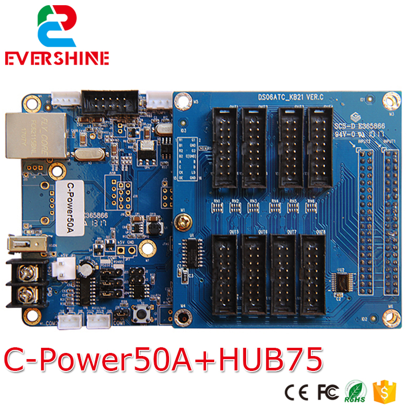 Lumen full color gray scale controller C-Power50A LED display video card with USB and Network port