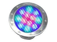 Acero inoxidable IP68 12 w led piscina luz rgb led piscina iluminación AC/DC12v llevó la lámpara bajo el agua CE & ROHS vida> 50 hrs