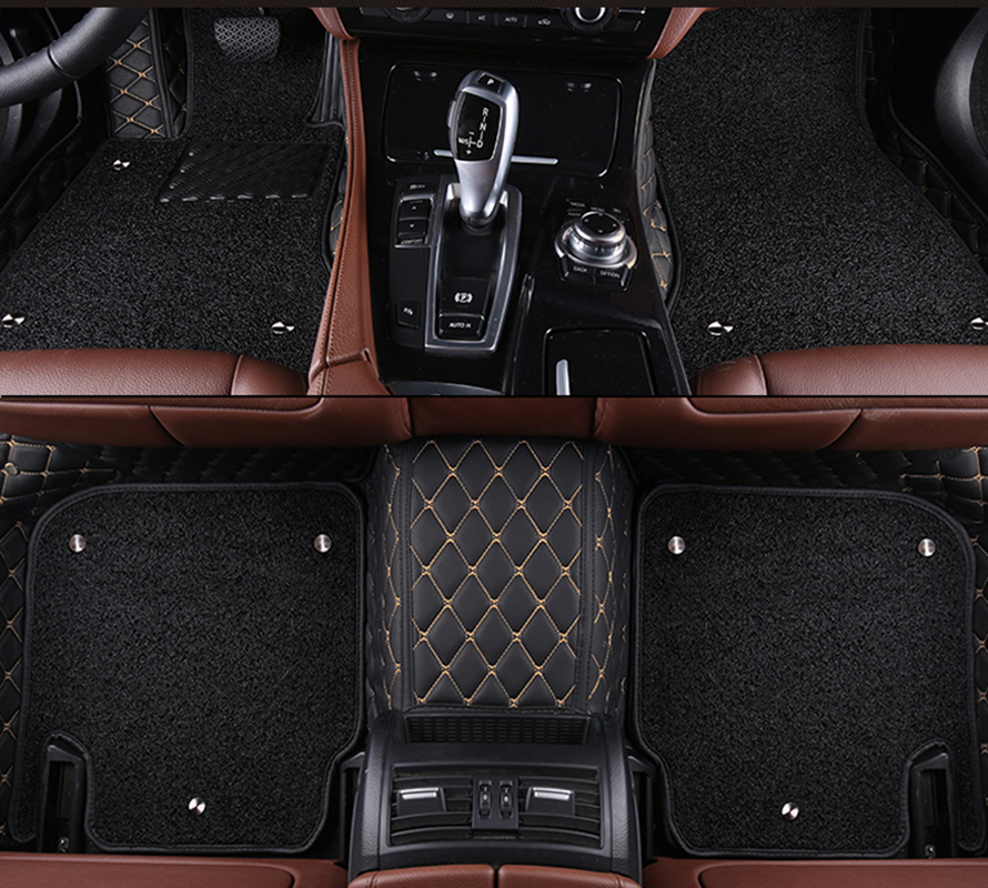 kalaisike Custom car floor mats for Cadillac all models SRX CTS Escalade ATS XTS SLS CT6 XT5 CT6 ATSL car accessories styling