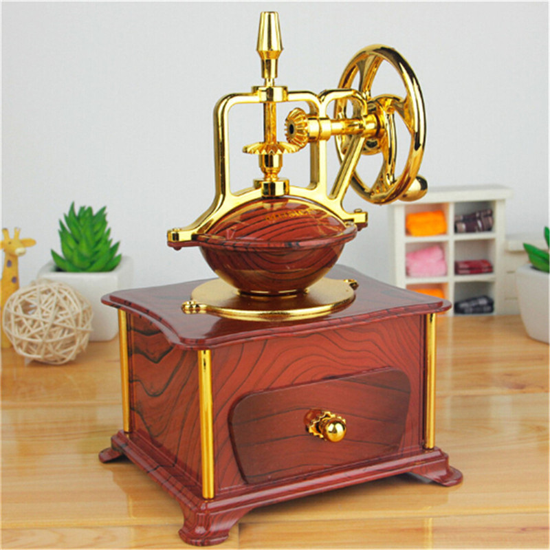 Hot ! Simple Retro Style Mini Vintage Music Box 2017